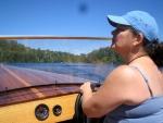 2007-08-15 Duck Lake, piloting Miss Powassen.jpg