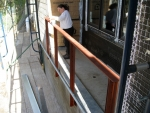 2008-03 Painting railings on our house.jpg