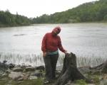 2009-07-18 Duck Lake, hiking in the rain.jpg