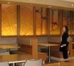 2009-10-03 El Camino Hospital cafeteria, Cheryl Gordon's artwork.jpg